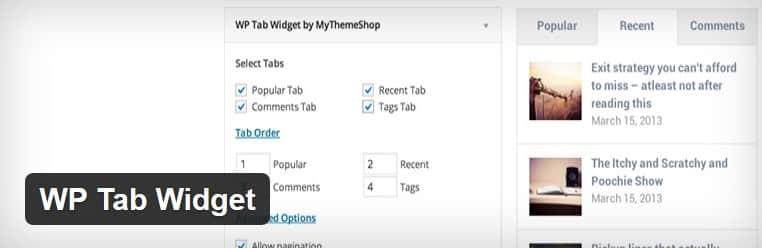 Obtenez gratuitement la traduction du plugin WP Tab Widget.