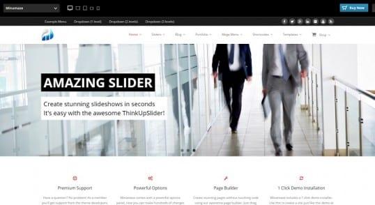 Obtenez les fichiers .po et .mo de la traduction française du thème WordPress Minamaze