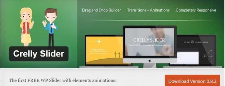 Fichiers .po et .mo de la traduction en français de l'extension WordPress gratuite Crelly Slider
